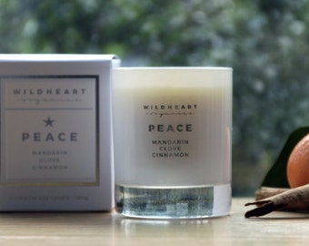 Soy  Candle  -  Peace Aromatherapy Candles, Mandarin, Clove & Cinnamon