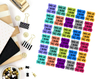 Messy Bun Quotes Stickers! Perfect for your Erin Condren Life Planner, calendar, Paper Plum, Filofax!