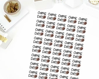 Football Game Day Stickers! Perfect for your Erin Condren Life Planner, calendar, Paper Plum, Filofax!