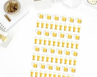 Beer Stickers! Perfect for your Erin Condren Life Planner, calendar, Paper Plum, Filofax!
