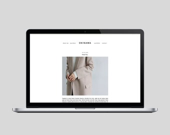 OKINAWA - Premade Blogger Template - Simple, Chic, Affordable