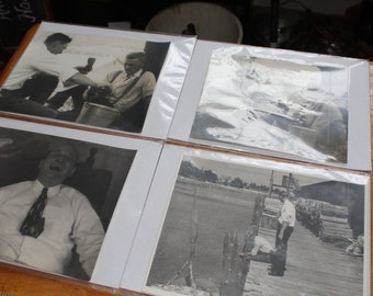 "1940's Americana Photographs Taken In Upstate New York (4) Photos  8 "" x 7 1/2"""