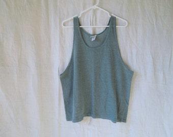 90s Blue Green Cotton Mesh Tank Top