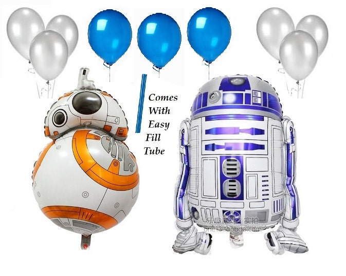 11 piece set large r2d2 r2d2 foil balloon for star wars birthday