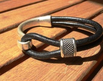 hook bracelet, mens bracelet, mens leather bracelet, mens bracelets, mens jewelry, gifts for men, friendship bracelets, bracelets for men