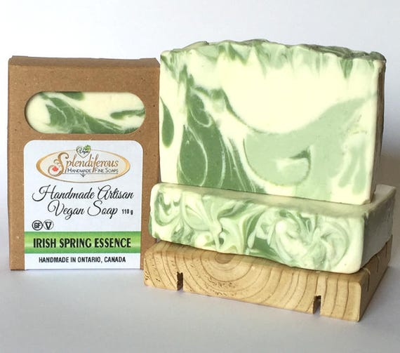Irish Spring Essence Soap, handmade, vegan, fresh spring scent