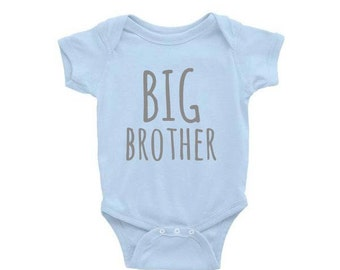 Baby Onesie- BIG BROTHER. Big Brother Shirt. Baby Gift. Baby Shower Gift. Baby Boy Clothes. Funny Baby Onesies. Big Brother Gift. Onesie.