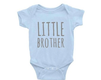 Baby Onesie- LITTLE BROTHER. Baby Gift. Baby Shower Gift. Baby Boy. Funny Baby Onesies. New Baby Gift. Little Brother Gift. Baby Boy Gift.