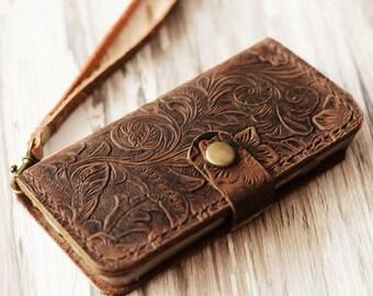 Wristlet iPhone 8 wallet case iPhone 5s wallet case iPhone 6s case iPhone 6 plus wallet case iPhone SE case iPhone 6s plus case vintge look