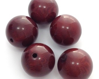 Tagua beads, round, red, 17mm, 5 pieces, beads, beads tagua, tagua nut beads, big beads, large beads, natural beads, round beads, beads