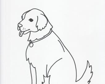 Pet Cartoon Pic of Your Pet B&W Custom