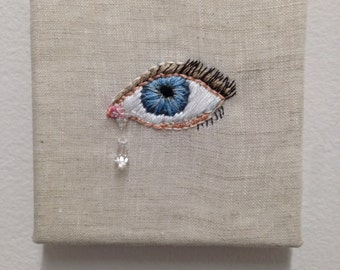 Crying Eyes Embroidery