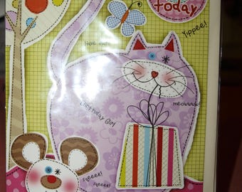 3 Today Birthday Card with a really Fat Cat