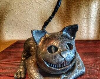 Cheshire Cat Steel Sculpture, Alice In Wonderland