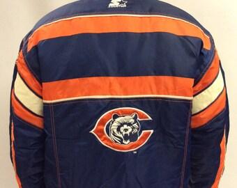 RARE Chicago Bears Starter Nylon Jacket