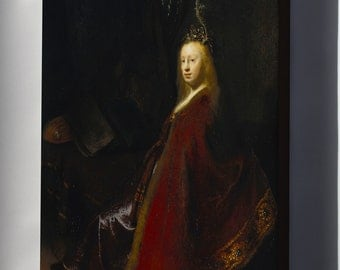 Canvas 24x36; Minerva By Rembrandt