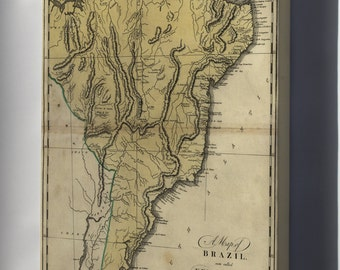 Canvas 24x36; Map Of Brazil, Or New Portugal 1814 P2