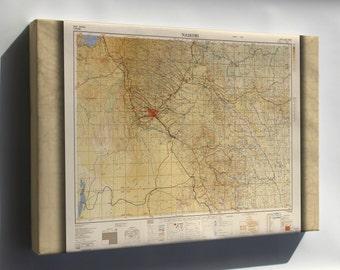 Canvas 24x36; Map Of Nairobi 1954