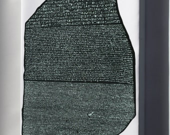Canvas 16x24; Rosetta Stone (Ca 196 Bc) Enabled Linguists To Begin The Process Of Hieroglyph Decipherment.[113]
