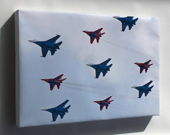 Canvas 16x24; The Big Nine - Flight Groups Russian Knights And Strizhi