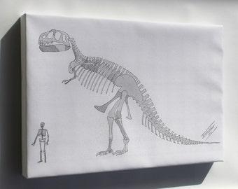 Canvas 16x24; Tyrannosaurus Rex Skeleton 1905