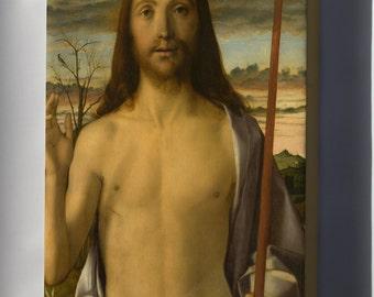 Canvas 16x24; Giovanni Bellini Christ Blessing