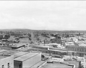 16x24 Poster; Los Angeles Street And Aliso Street From Baker Block Looking East, Downtown Los Angeles, 1885 (1859)  #031215