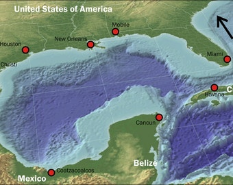 16x24 Poster; Gulf Of Mexico Places