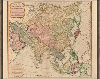 16x24 Poster; Map Of Asia 1799 P2