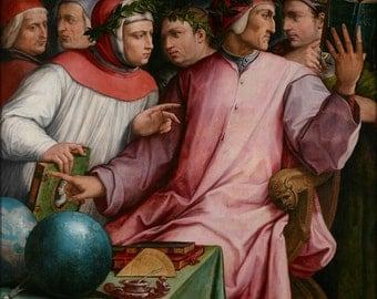 16x24 Poster; Giorgio Vasari Six Tuscan Poets