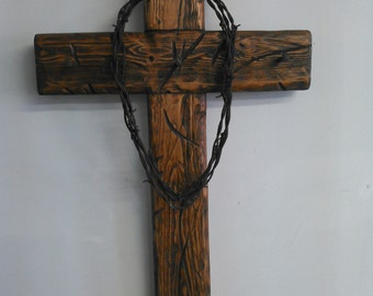 Hanging wooden wall crosses