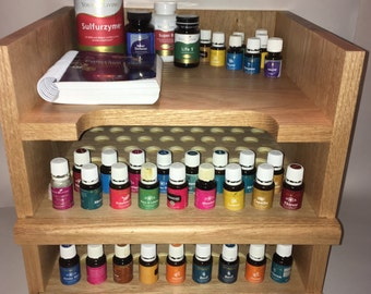 Essential Oil Shelf, Essential Oil Storage, Rack, drawer, scripture, holes for 128 15ml bottles plus shelf