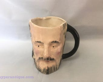 Occupied Japan pottery - mans head in a mug