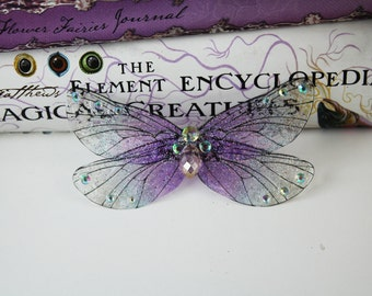 Delicate Lavender Victorian Fairy Wing/Butterfly Brooch