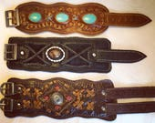 Secret Pocket Leather Cuff Bracelet