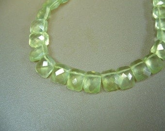 Prehnite Faceted Gem Quality Briolette Beads Earring Pair Set of 7