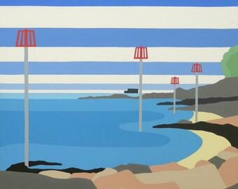 Seagrove Bay. Limited Editon Giclee Print by Suzanne Whitmarsh NAPA. IOW & Dorset Artist