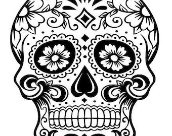 Sugar Skull SVG File, Quote Cut File, Silhouette File, Cricut File, Vinyl Cut File, Stencil
