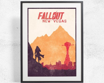 FALLOUT NEW VEGAS 11x17 Inspired Art Poster Size A3 A2 12x16 Video Game Print Poster Art Inspired Minimalist Print, Video Game Print Poster,