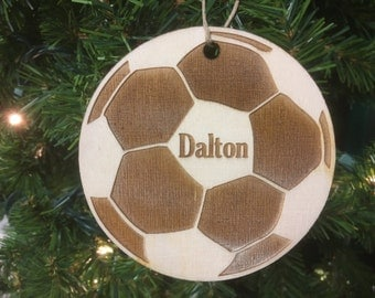 Soccer Ball Personalized Christmas Ornament