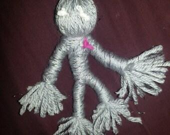 The Lover-Handmade Voodoo Doll/ Yarn Poppet