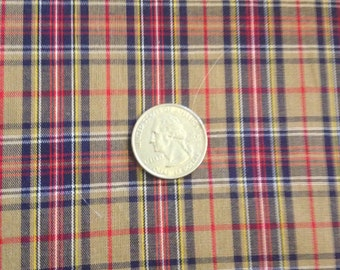 3 Yards Spechler-Vogel Brown Plaid Fabric