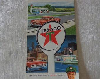 Vintage 1964 Texaco Kansas road map