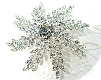 Vintage Sarah Coventry Brooch Evening Snowflake 1960's Costume Jewelry VA-226