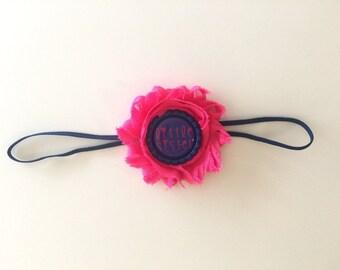 Little Sister Shabby Headband/Little Sister Bow/Little Sister/Baby Girl Bows/Newborn Headband/Shabby Bows/Shabby Hair Bows
