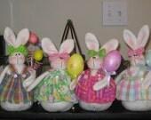 Bunny Shelf Sitter - Easter Decoration - Spring Decoration