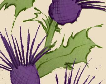 WALLPAPER SAMPLE A4 - Thistle Print Self Adhesive Wallpaper - WP801