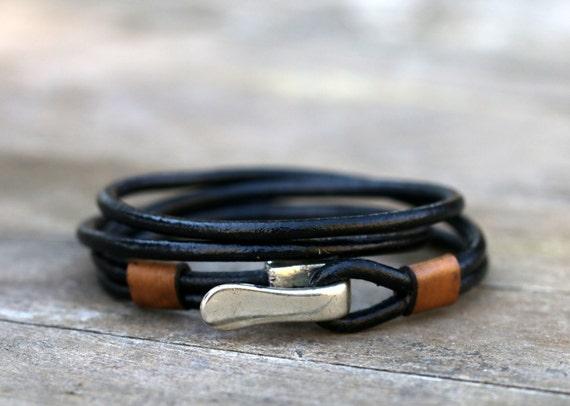 Wickel lederarmband leder herren armband herren schmuck for Armband fa r beste freundin