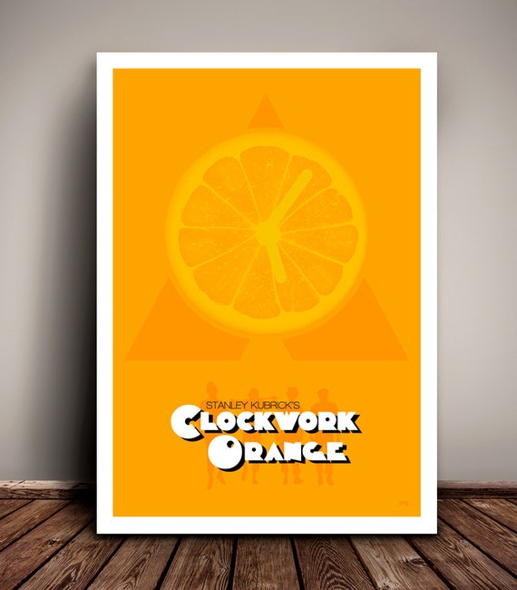 A Clockwork Orange // Stanley Kubrick // Minimalist Movie Poster // Unique A4 / A3 Art Print