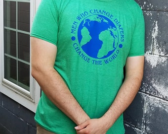 Dads Who Change Diapers Change The World T-shirt
